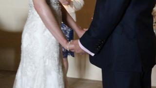 A couple's wedding dance