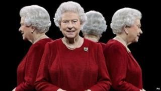 This portrait of Queen Elizabeth II was taken in 2013 using mirrors to show her from four sides