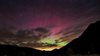 Northern Lights over Patterdale, Cumbria