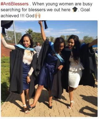 tweeted photo of young female graduate
