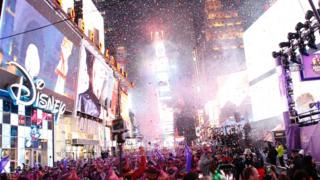 New Year's Eve celebrations in Times Square, New York City