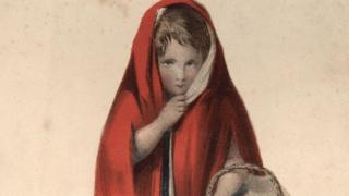 19th Century illustration of Little Red Riding Hood