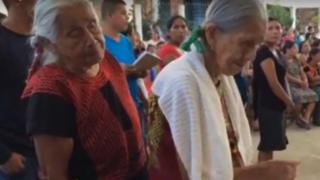 Women of Guevea de Humboldt, Mexico, queue up for first local election vote
