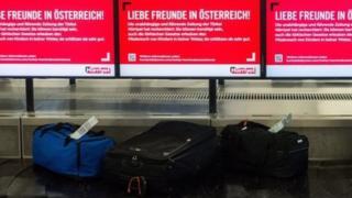 Maletas en el aeropuerto de Graz