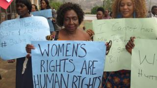 Pro-choice abortion campaigners in Sierra Leone - 2016