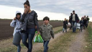 Syrian migrants in Hungary (06/09/15)