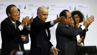 World leaders applauded as the deal was passed through
