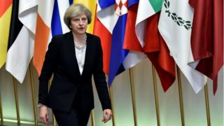 Theresa May leaves EU summit