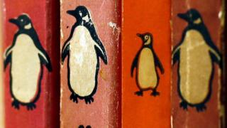 Penguin book spines