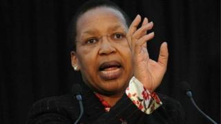 Qedani Mahlangu, la ministre sud-africaine chargée de la Santé