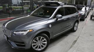 Uber driverless Volvo SUV