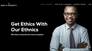 A website satirising the use of 'token minorities' in the media and tech industries