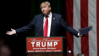 Donald Trump campaigns in Michigan