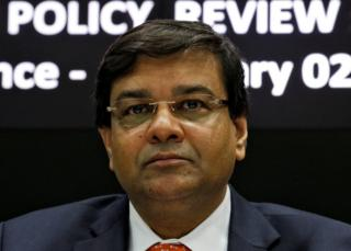 Urjit Patel attends a news conference in Mumbai, India, 2 February