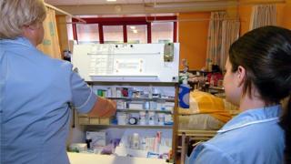 Nurses on a hospital ward