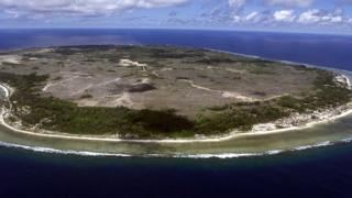 An overheard shot of the small Pacific nation of Nauru