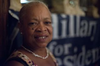Female voter.