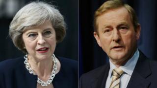 Theresa May and Enda Kenny
