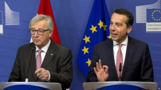 Jean-Claude Juncker and Christian Kern