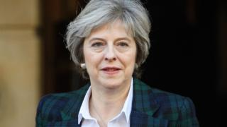 British Prime Minister Theresa May leaves Lancaster House in London on January 17, 2017, where she made a speech on the government's plans for Brexit