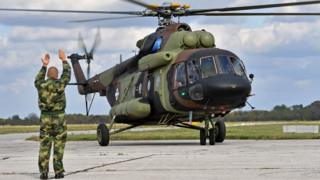 Serbian military helicopter, 13 Oct 16