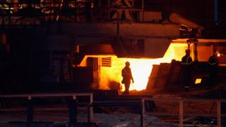 Steelworks at Redcar
