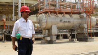 Iranian gas worker