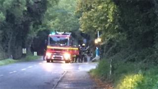 Dublin Fire Brigade said six fire appliances from several areas are attending the scene.