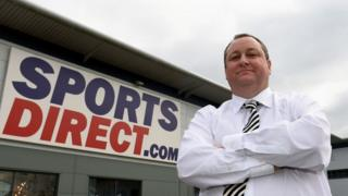 Mike Ashley outside Sports Direct headquarters