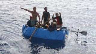 مهاجران کوبایی در آب های فلوریدا