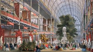 Illustration showing the Great Exhibition of 1851.