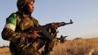 Mozambican soldiers taking part the African Standby Force exercises in South Africa - October 2015