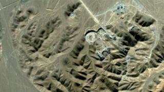 مرکز هسته ای فردو در نزدیکی شهر قم در جنوب تهران قرار دارد