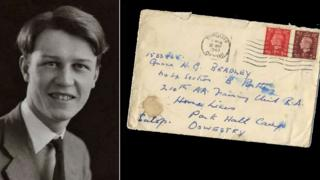 Gilbert Bradley and a letter addressed to him