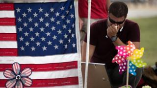 Mourner in Orlando