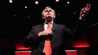 Gordon Brown speaks at a Labour rally