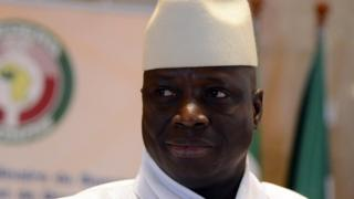 President Yahya Jammeh of Gambia attends the 44th summit of the 15-nation west African bloc ECOWAS at the Felix Houphouet-Boigny Foundation in Yamoussoukro on March 28, 2014