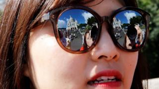 Montmartre en los anteojos de una turista coreana.