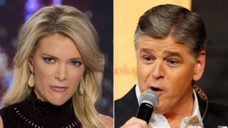 Megyn Kelly (L) and Sean Hannity