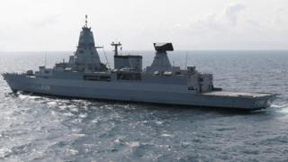 German frigate Sachsen (file pic)