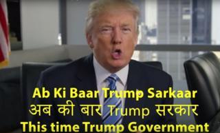 Screen grab of Mr Trump's video
