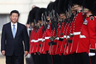 Chinese President Xi Jinping reviews an honour guard during his state visit in October, 2015