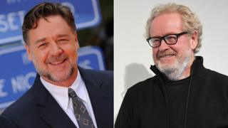 Russell Crowe and Ridley Scott