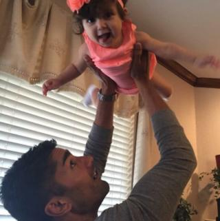 Major Taj Sareen and his daughter Jade