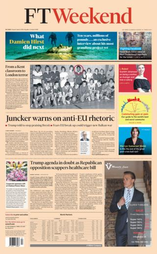 The Financial Times front page