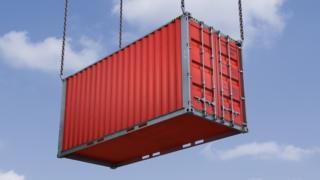 A shipping container