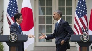 Abe iyo Obama ayaa noqday labadii hogaamiye ee ugu horreeyay ee saldhigaas booqda