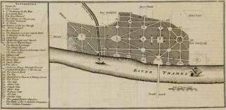 Sir John Evelyn's plan for rebuilding the City of London 1666