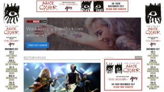Team Rock website screen grab