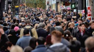 Thousands of shoppers descended on London's West End